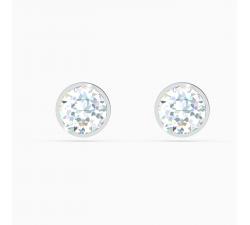 Boucles d'oreilles clous Tennis, blanc, métal rhodié Swarovski 5565604