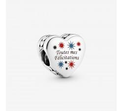 Charm Coeur Toutes mes felicitations en Argent 925/1000 PANDORA 792015C00_E042