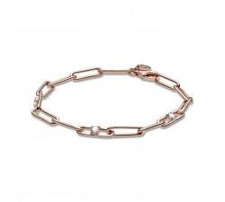 Bracelet chaîne à maillons et pierres en Pandora Rose 589177C01