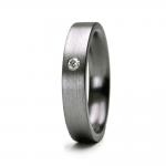 Alliance Tantale PURE FLAT avec 1 diamant largeur 3 mm