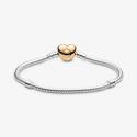 Bracelet Maille Serpent Fermoir Cœur Pandora Moments et PANDORA Shine - 568707C00