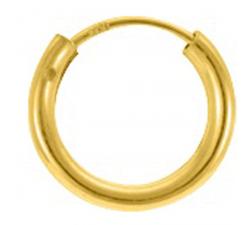 Boucles d'oreilles créoles plaqué or diamètre 14 mm by Stauffer