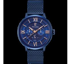 Montre homme Beaucour acier milanais bleu Pierre Lannier 255F466