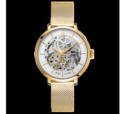 Montre femme Acier milanais doré Automatique Pierre Lannier 309D528