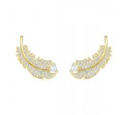 Boucles d'oreilles clous Nice, blanc, Métal doré Swarovski 5505623