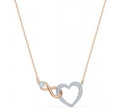 Collier Swarovski Infinity Heart, blanc, finition mix de métal Swarovski 5518865