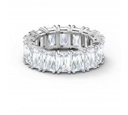 Bague Vittore Wide, blanc, métal rhodié Swarovski 5562129