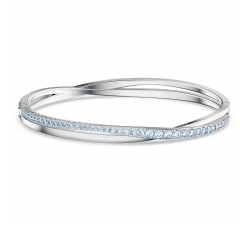Bracelet Twist Rows, bleu, métal rhodié Swarovski 5582810