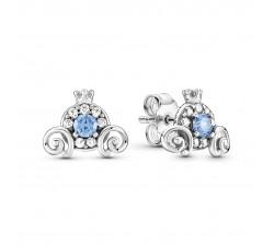Boucles d'oreilles Disney Cendrillon Citrouille en Argent 925/1000ᵉ Pandora 299193C01
