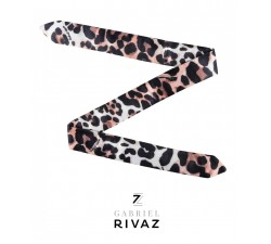 bracelet leopard classique en soie Gabriel Rivaz S12M