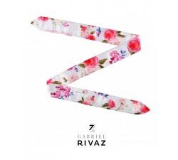 bracelet montre pink flowers en soie Gabriel Rivaz S15
