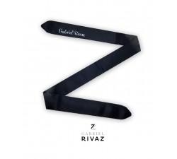 bracelet montre noir en soie Gabriel Rivaz S21