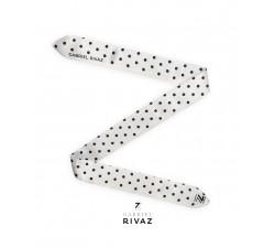 bracelet montre pois noir en soie Gabriel Rivaz S30