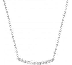 Collier or gris 375/1000 et oxydes de zirconium by Stauffer