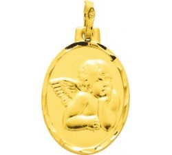 Médaille ange or jaune 375/1000 by Stauffer