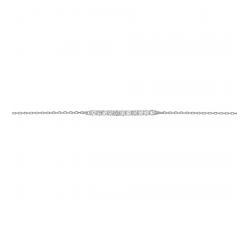 Bracelet or gris 375/1000 et oxydes de zirconium by Stauffer