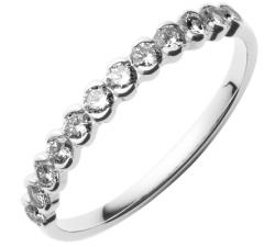 Alliance or gris 750/1000 et diamants by Stauffer