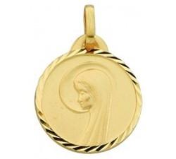 Médaille vierge or jaune 375/1000 by Stauffer