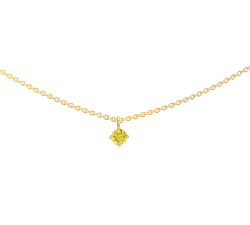 Collier or jaune 750/1000, saphir jaune by Stauffer