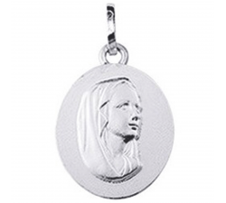 Médaille vierge or gris 375/1000 by Stauffer