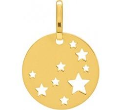 Pendentif laique motifs étoiles or jaune 375/1000 by Stauffer