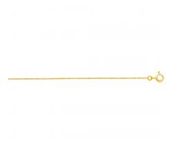 Chaîne forçat or jaune 375/1000 by Stauffer