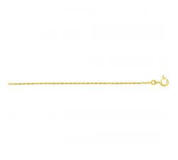 Chaîne forçat or jaune 375/1000, 1,30 mm by Stauffer