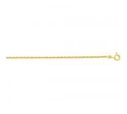 Chaîne forçat or jaune 375/1000, 1,65 mm by Stauffer