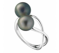 Bague Canopée argent 925/1000 et perle de Tahiti IZA B EZ18R001HP