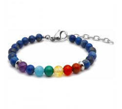 Bracelet CHAKRA DU TROISIEME OEIL base lapis lazuli - STILIVITA 7 CHAKRAS SI 315