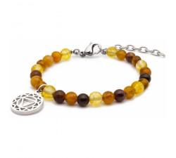 Bracelet STILIVITA en acier - Collection équilibre - CREATIVITE - chakra plexus solaire SI 324