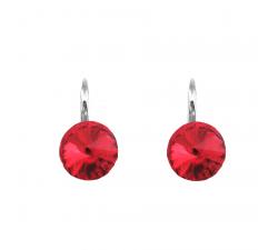 Boucles d'oreilles argent 925/1000 et Swarovski elements Indicolite DO-EMI-227