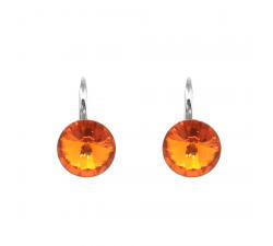 Boucles d'oreilles argent 925/1000 et Swarovski elements Indicolite DO-EMI-259