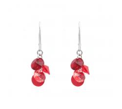Boucles d'oreilles argent 925/1000 et Swarovski elements Indicolite DO-HELEN-208