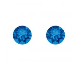 Boucles d'oreilles argent 925/1000 et Swarovski elements Indicolite PU-RON6-243