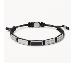 Bracelet homme perles en acier FOSSIL JF03172040