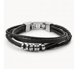 Bracelet homme multi rang noir FOSSIL JF03183040