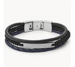 Bracelet homme vintage casual multi-rangs FOSSIL JF03186040