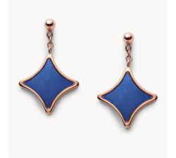 Boucles d'oreilles femme signature diamond acier Fossil J JF03191791
