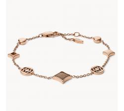 Bracelet femme signature diamond acier Fossil JF03192791