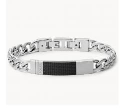 Bracelet homme avec plaque en acier Fossil JF03315040