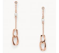 Boucles d'oreilles femme pendantes acier Fossil J JF03346791
