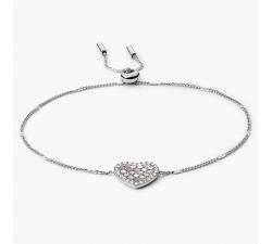 Bracelet femme coeur mosaïque en acier Fossil JF03414040