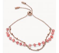 Bracelet femme à chaîne Modern Meadows en quartz rose FOSSIL JF03534791
