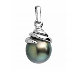 Pendentif or gris 750/1000 et perle de Tahiti by Stauffer