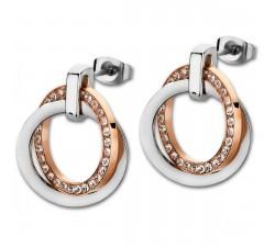 Boucles d'oreilles acier bicolore LOTUS STYLE LS1780-4/2