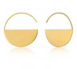 Boucles d'oreilles femme argent 925/1000 doré Ania Haie Geometry Class E005-02G