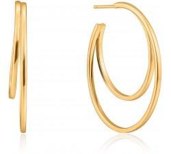 Boucles d'oreilles créoles femme argent 925/1000 doré Ania Haie Ear We Go E023-10G