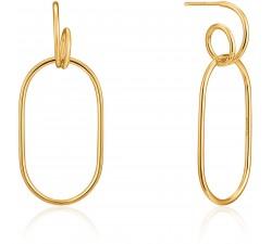 Boucles d'oreilles pendantes femme argent 925/1000 doré Ania Haie Ear We Go E023-16G