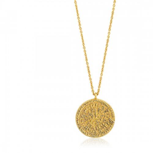 Collier femme argent 925/1000 doré Ania Haie Coins N009-04G